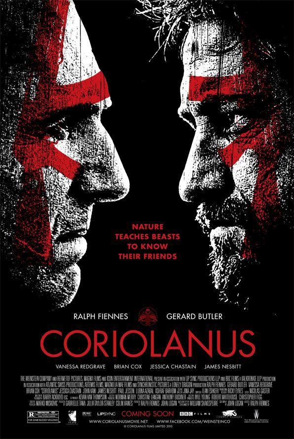 плакат фильма постер Кориолан