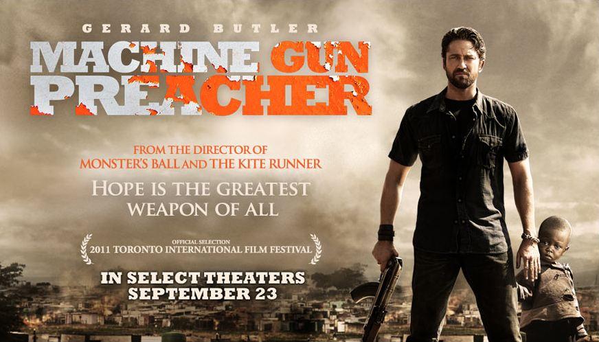 плакат фильма баннер Проповедник с пулеметом