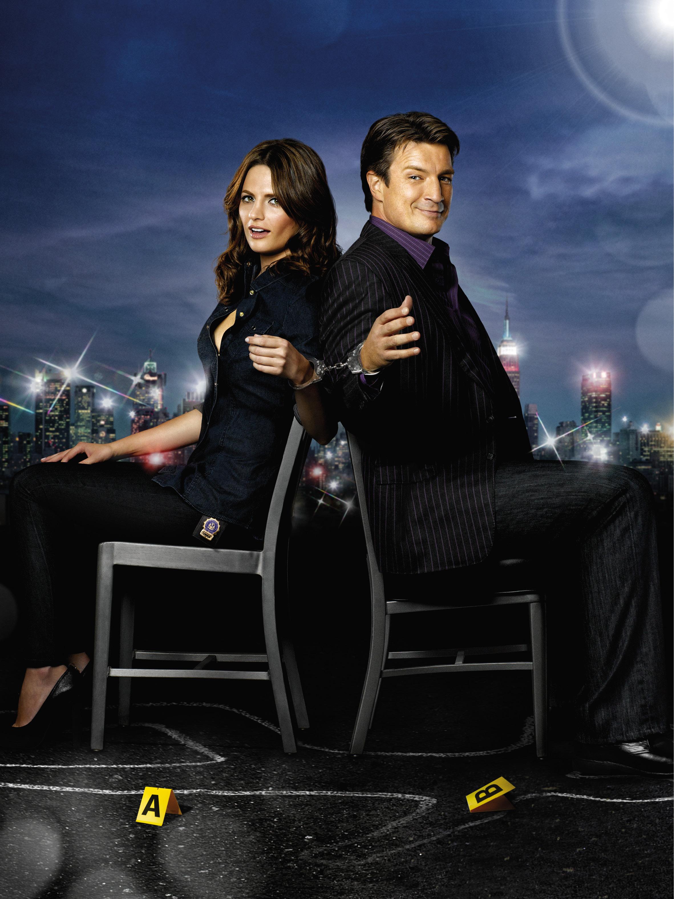 плакат фильма постер сезон 3 textless Касл