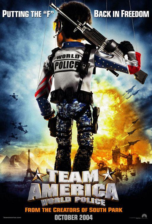 плакат фильма постер Отряд Америка: Всемирная полиция