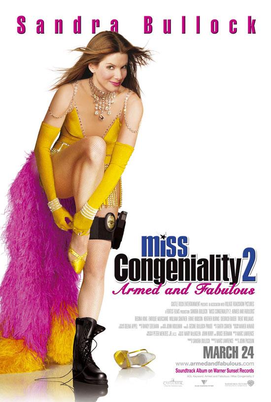 плакат фильма постер Мисс Конгениальность 2: Прекрасна и опасна