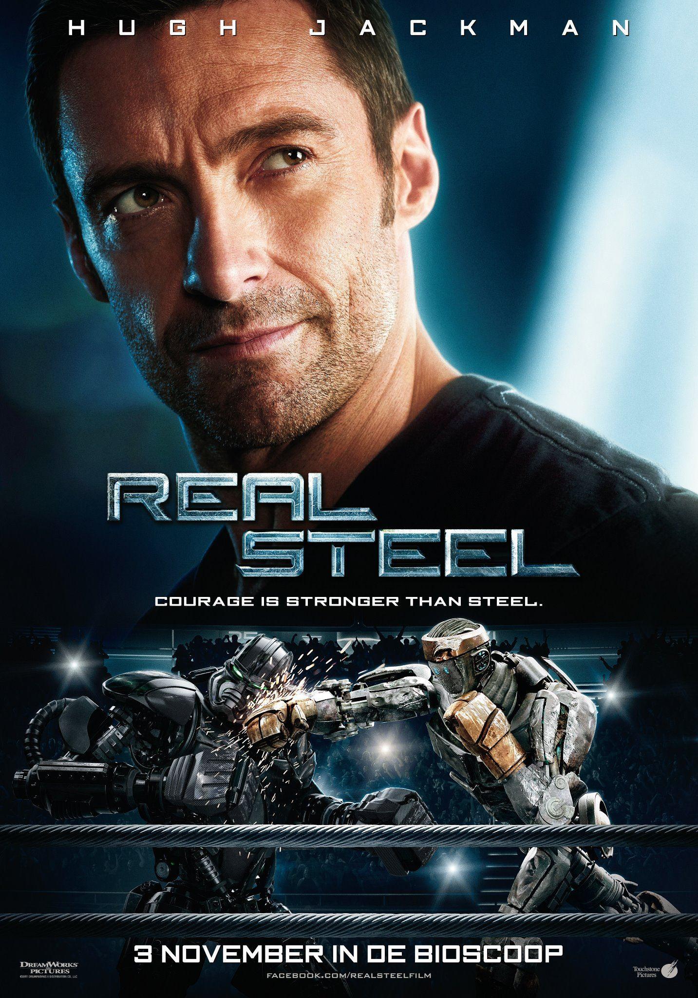 плакат фильма постер Живая сталь