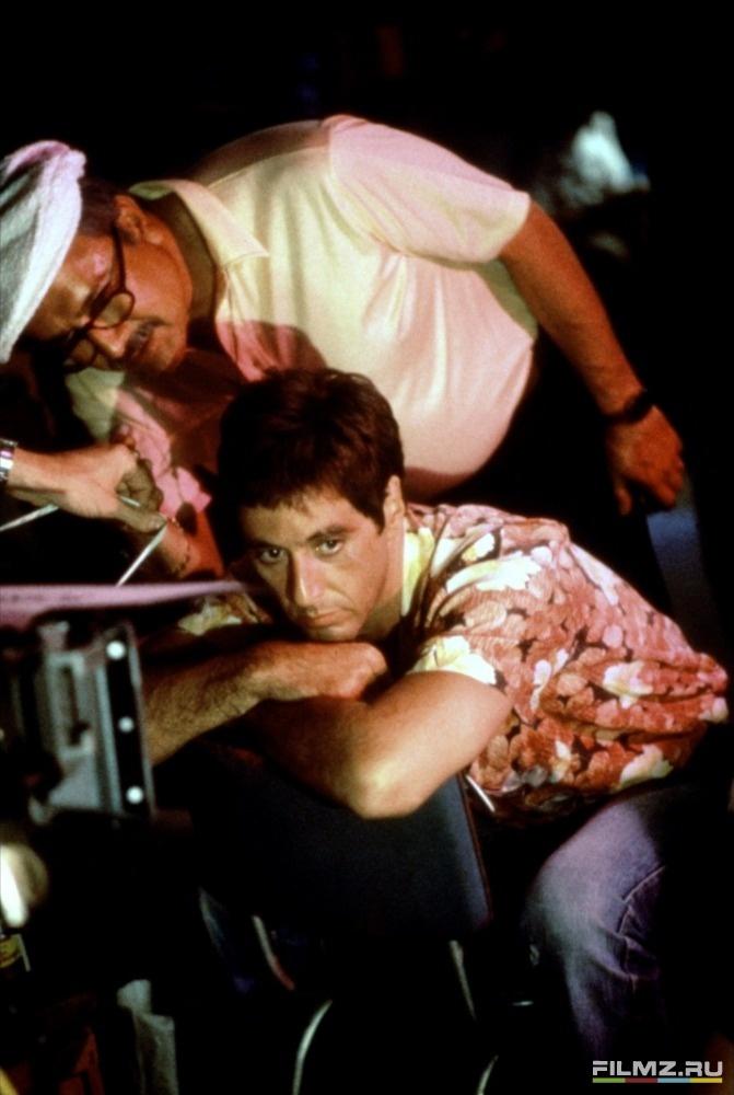 со съемок Лицо со шрамом Джон А. Алонзо, Аль Пачино,