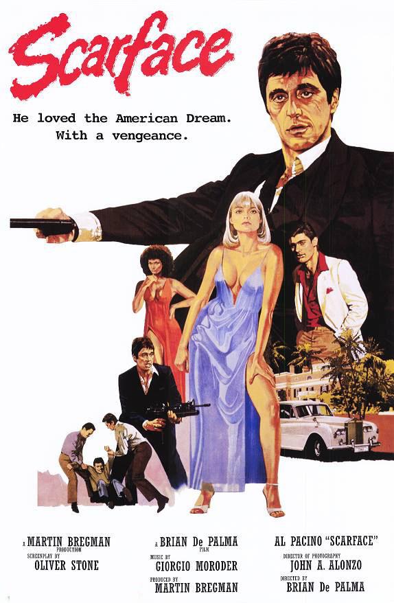 плакат фильма Лицо со шрамом