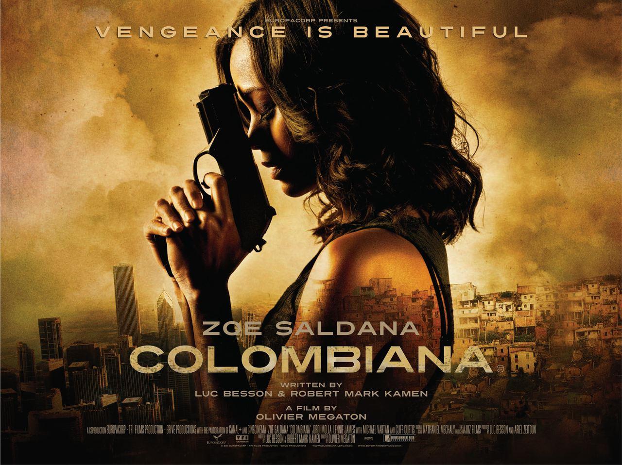 плакат фильма биллборды Коломбиана