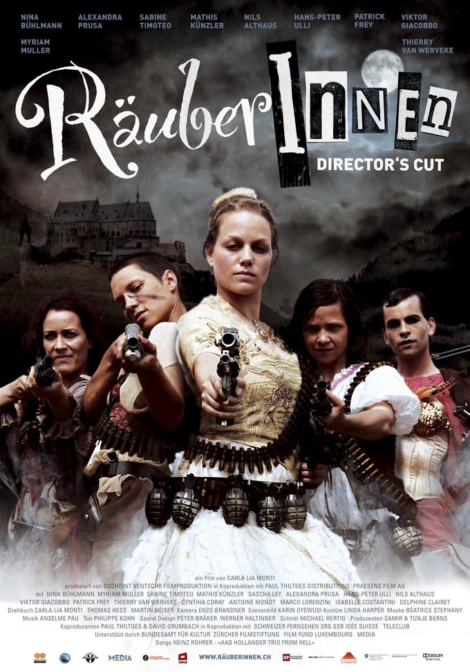 плакат фильма постер Блондинка и разбойницы