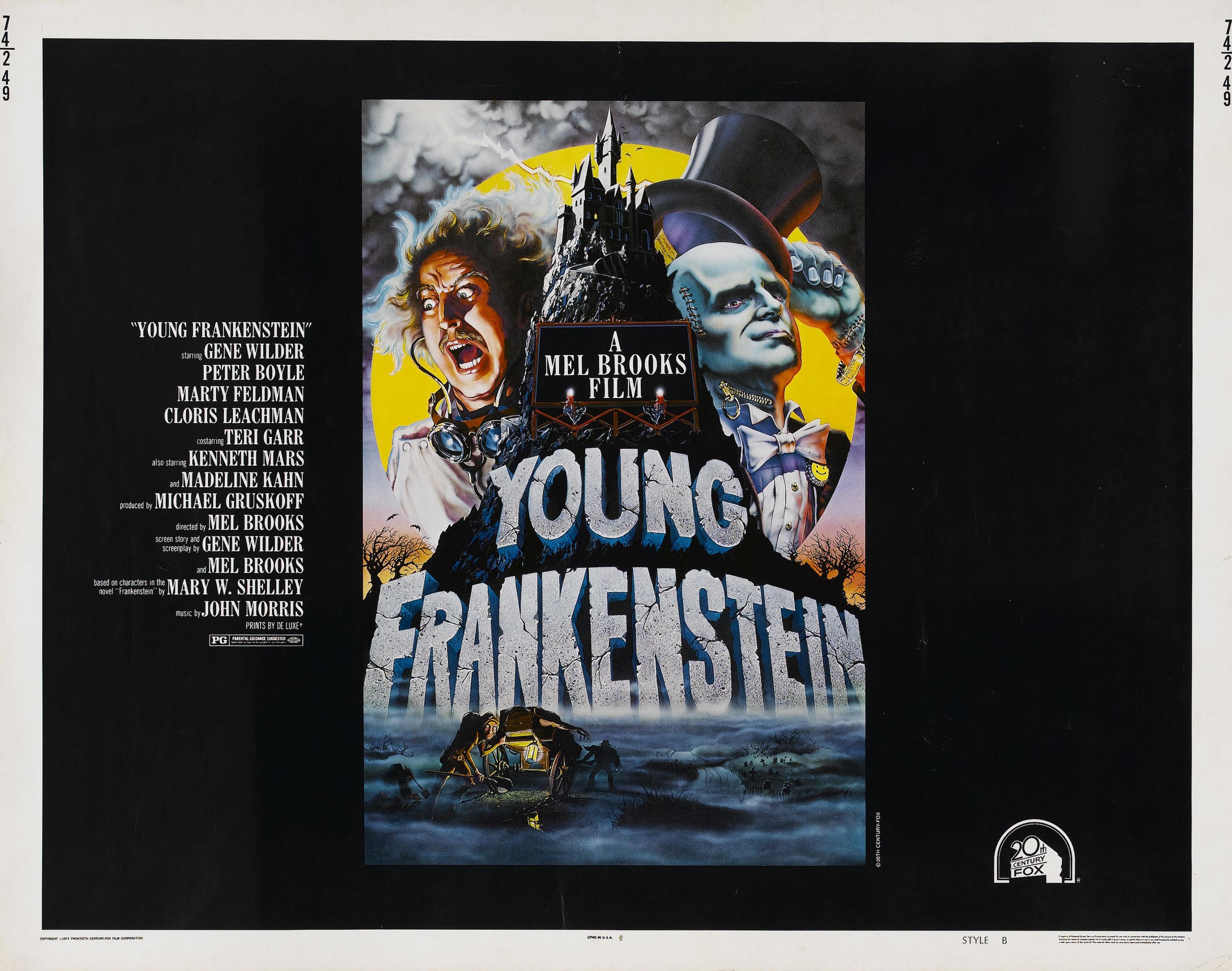 плакат фильма биллборды Молодой Франкенштейн