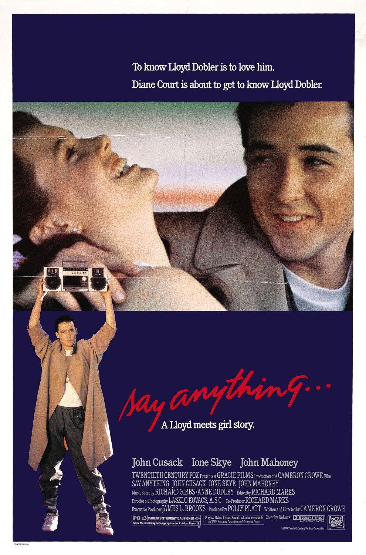 плакат фильма постер Скажи что-нибудь