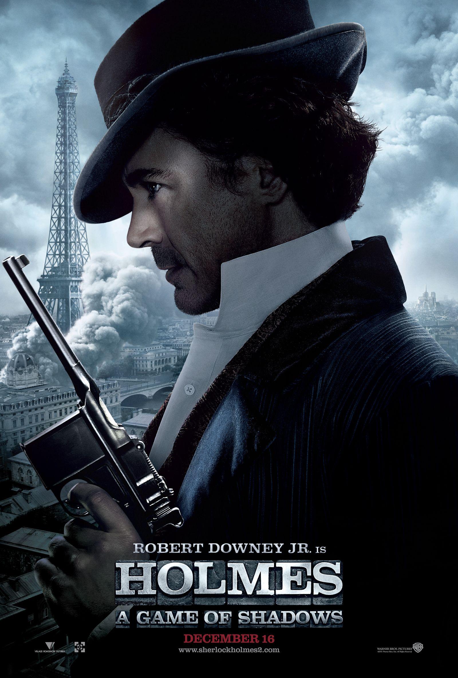плакат фильма характер-постер Шерлок Холмс: Игра теней