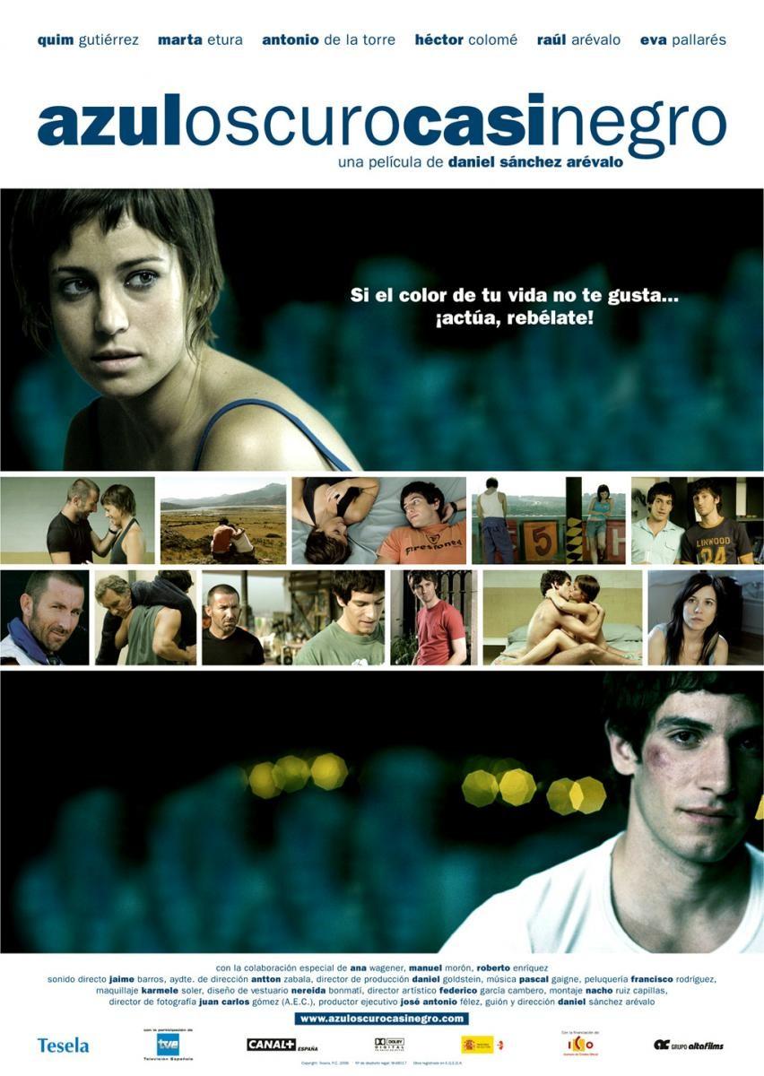 плакат фильма Темно-синий, почти черный
