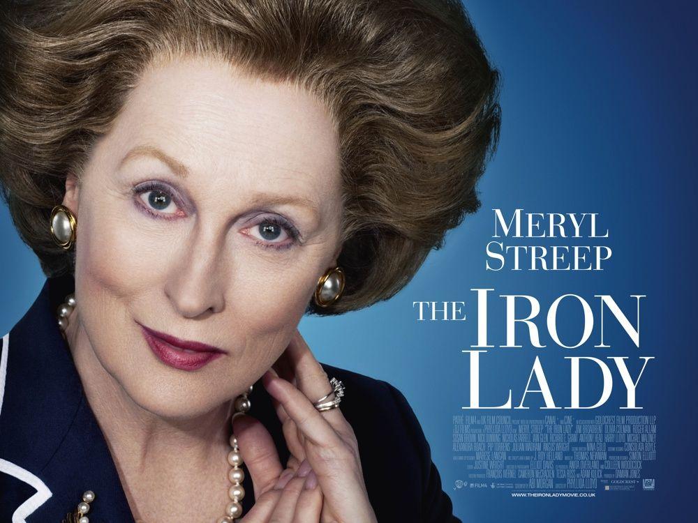 плакат фильма биллборды Железная леди