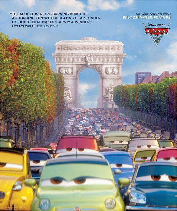 плакат фильма «Оскаровская» кампания Тачки 2