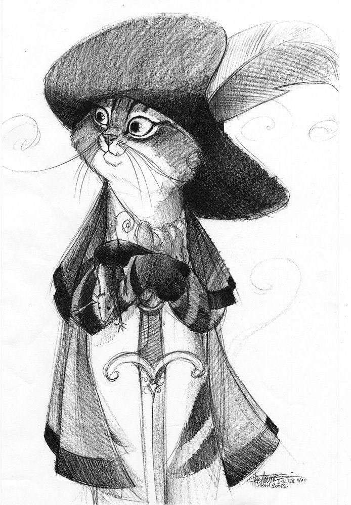 концепт-арты Кот в сапогах