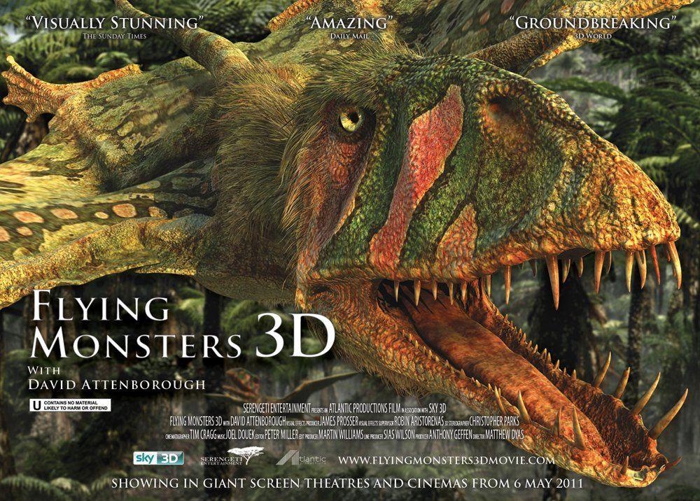 плакат фильма биллборды Крылатые монстры 3D
