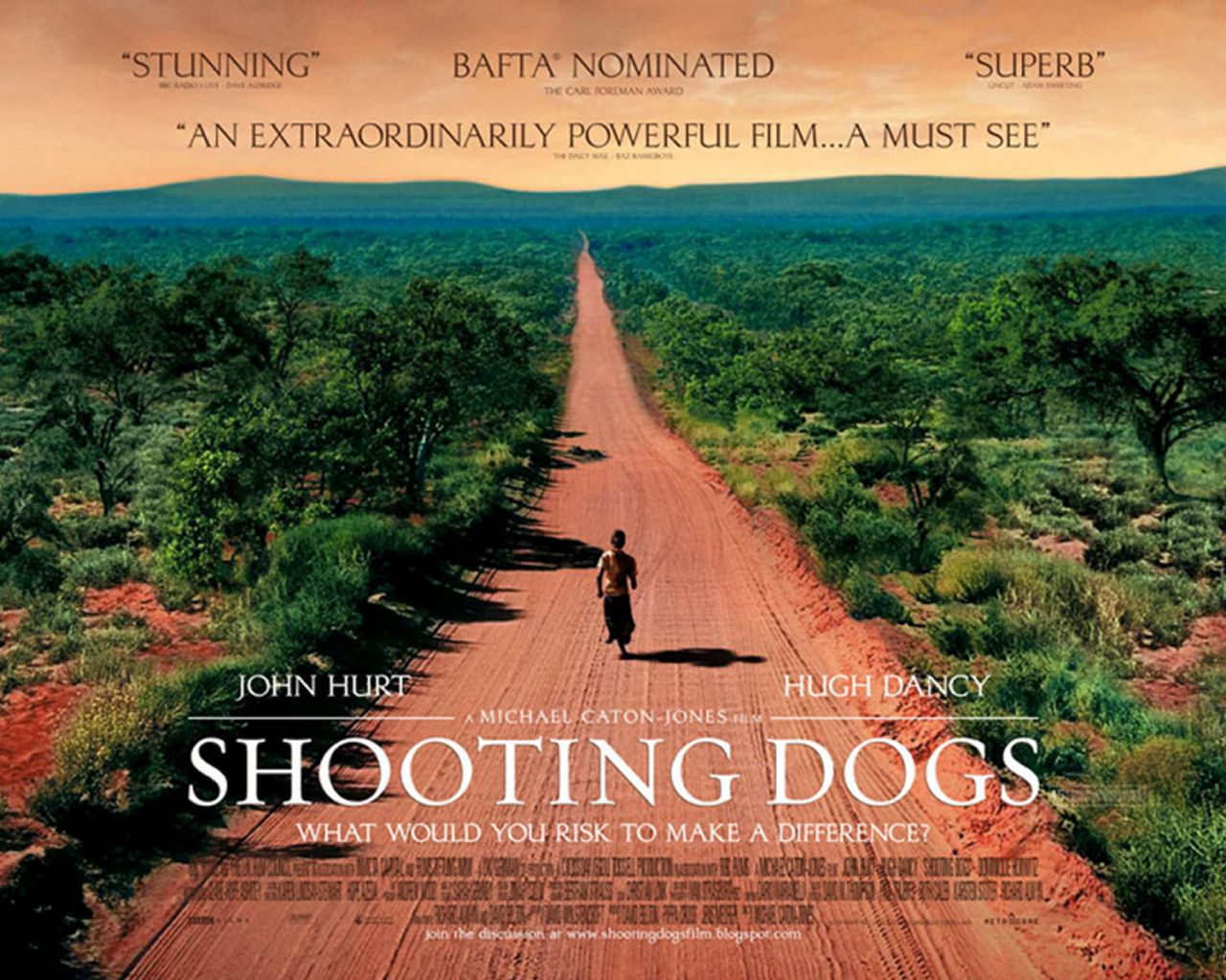 плакат фильма биллборды Отстреливая собак*