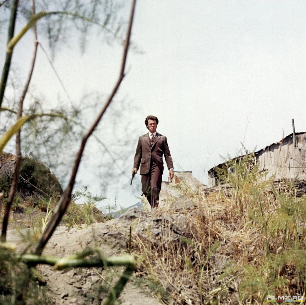 кадры из фильма Грязный Гарри Клинт Иствуд,