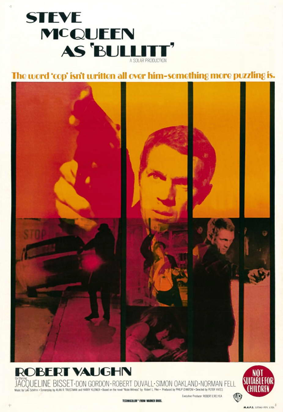 плакат фильма постер Детектив Буллит