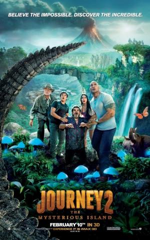 плакат фильма постер Путешествие 2: Таинственный остров