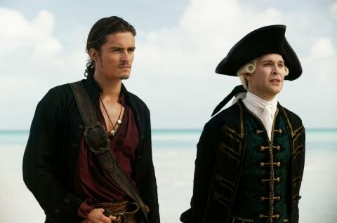 кадры из фильма Пираты Карибского моря: На краю света Том Холландер, Орландо Блум,