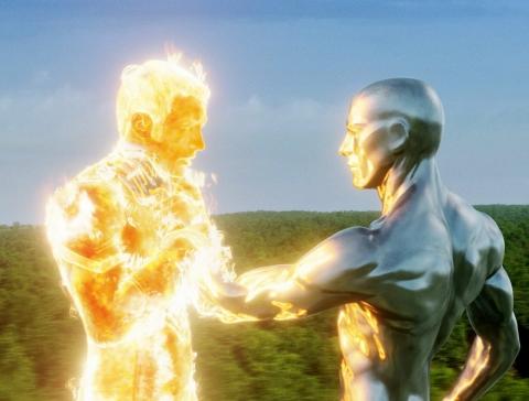 кадр №11108 из фильма Фантастическая четверка: Вторжение Серебряного Серфера