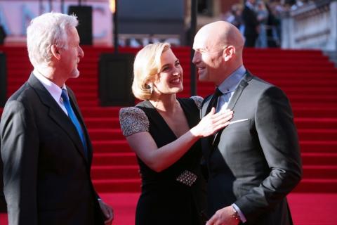 премьера Премьера фильма «Титаник 3D» в Лондоне 2012 Билли Зейн, Кейт Уинслет, Джеймс Кэмерон,