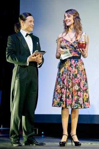 Церемония награждения Российской народной кинопремии «Жорж 2012» Софья Ская, Алексей Франдетти,
