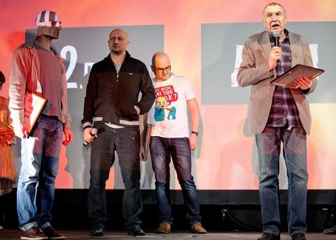 Церемония награждения Российской народной кинопремии «Жорж 2012» Гоша Куценко, Виктор Шамиров, Андрей Смирнов,