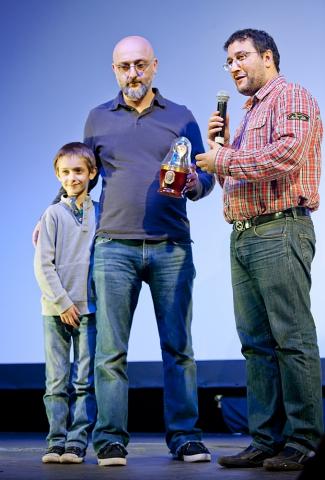 Церемония награждения Российской народной кинопремии «Жорж 2012» Александр Котт, Лео Габриадзе,