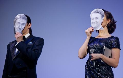 Церемония награждения Российской народной кинопремии «Жорж 2012» Алексей Франдетти, Валерия Ланская,