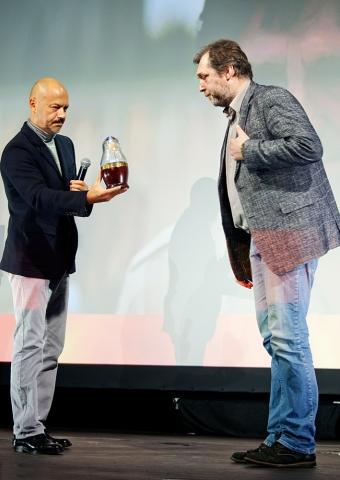 Церемония награждения Российской народной кинопремии «Жорж 2012» Никита Высоцкий, Федор Бондарчук,