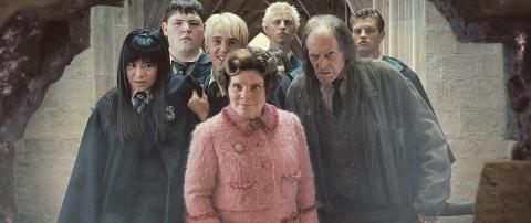 кадры из фильма Гарри Поттер и Орден Феникса Имельда Стонтон, Том Фелтон, Дэвид Брэдли, Кэти Люн,
