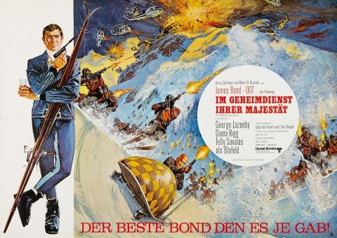 плакат фильма постер На секретной службе Её Величества