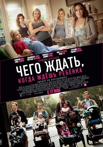 плакат фильма постер локализованные Чего ждать, когда ждешь ребенка