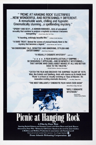 плакат фильма тизер Пикник у Висячей скалы