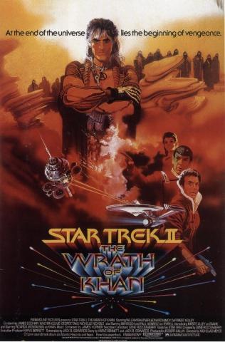 плакат фильма постер Звездный путь 2: Гнев Хана