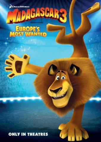 плакат фильма характер-постер Мадагаскар 3 в 3D