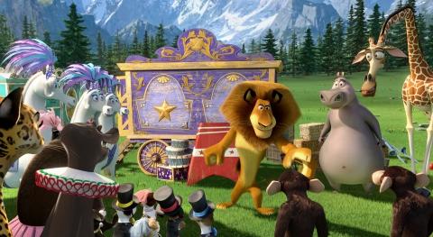 кадры из фильма Мадагаскар 3 в 3D Джессика Честейн, Мартин Шорт, Бен Стиллер, Джада Пинкетт Смит, Дэвид Швиммер,