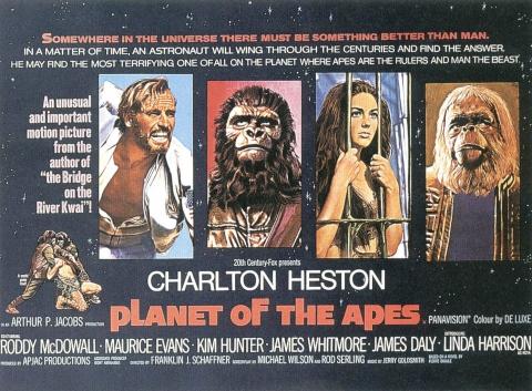 плакат фильма биллборды Планета обезьян