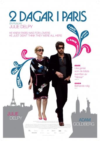 плакат фильма постер Два дня в Париже