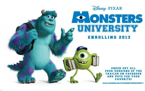 плакат фильма тизер биллборды Университет монстров