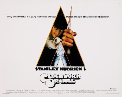 плакат фильма биллборды Заводной апельсин