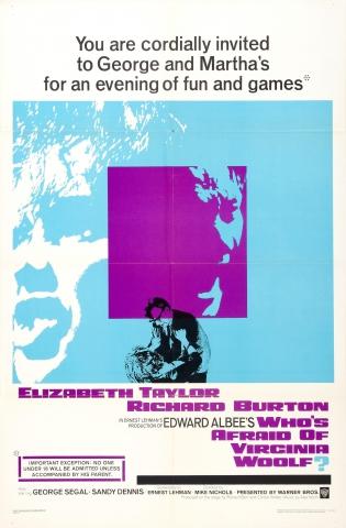 плакат фильма Кто боится Вирджинии Вульф?