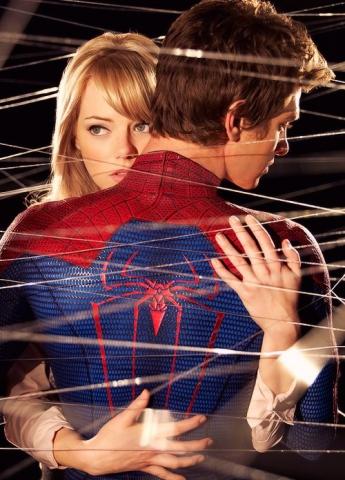 промо-слайды Новый Человек-паук Эмма Стоун, Эндрю Гарфилд,