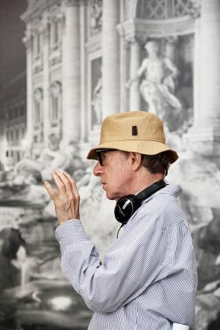 со съемок Римские приключения Вуди Аллен,