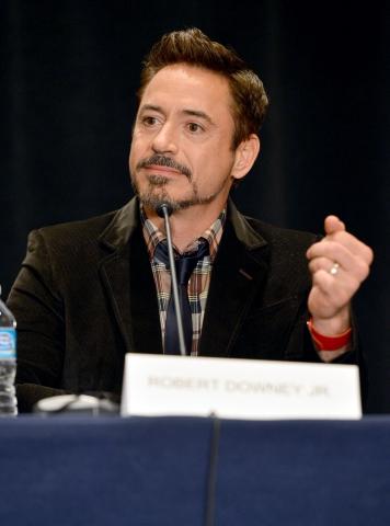 фотосессия «Железный человек 3» на Comic-Con 2012 Роберт Дауни-мл.,