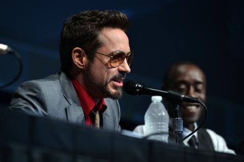 фотосессия «Железный человек 3» на Comic-Con 2012 Дон Чидл, Роберт Дауни-мл.,