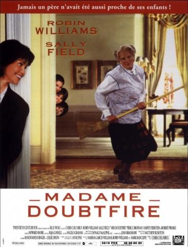 плакат фильма постер Миссис Даутфайр