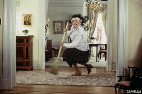 кадры из фильма Миссис Даутфайр Робин Уильямс,