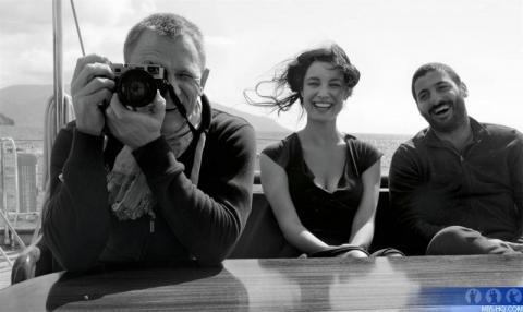 со съемок 007 Координаты Скайфолл Дэниел Крэйг, Беренис Марло,