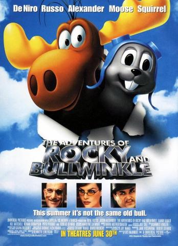 плакат фильма постер Приключения Рокки и Буллвинкля